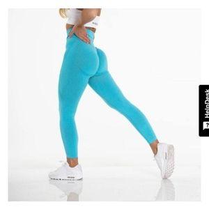 Turquoise Blue NVGTN Leggings